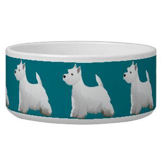 West Highland White Terrier Basic Breed Design Dog Food Bowl