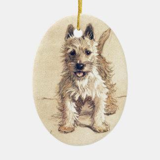 West Highland White Terrier Ceramic Ornament