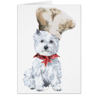 West Highland White Terrier Chef Greeting Card