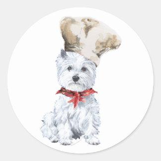 West Highland White Terrier Chef Classic Round Sticker