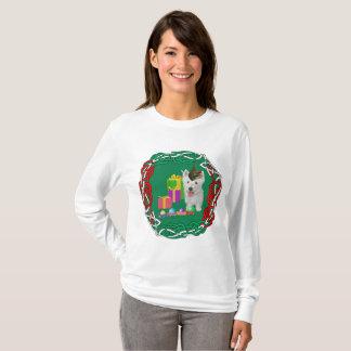 West Highland White Terrier Christmas Elf T-Shirt