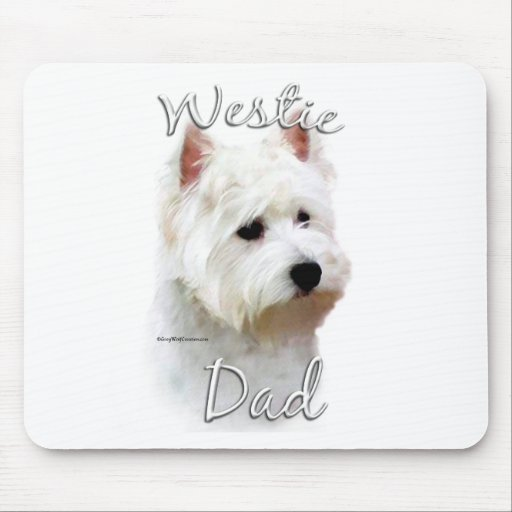 West Highland White Terrier Dad 2 Mouse Pads