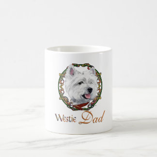 West Highland White Terrier Dad & Pups Coffee Mug