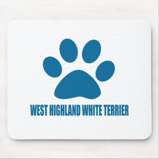 WEST HIGHLAND WHITE TERRIER DOG DESIGNS MOUSE PAD