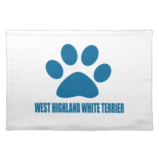 WEST HIGHLAND WHITE TERRIER DOG DESIGNS PLACEMAT