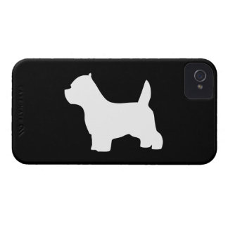 West Highland White Terrier dog, westie silhouette Case-Mate iPhone 4 Cases