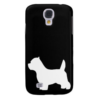 West Highland White Terrier dog, westie silhouette Galaxy S4 Cover
