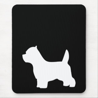 West Highland White Terrier dog, westie silhouette Mouse Pad