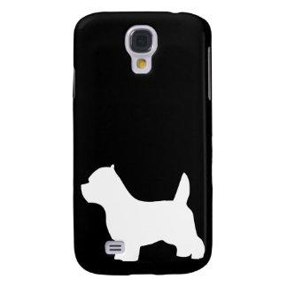 West Highland White Terrier dog, westie silhouette Samsung Galaxy S4 Case