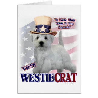 West Highland White Terrier Gifts Greeting Card