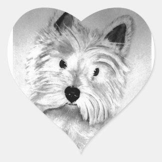 West Highland White Terrier Heart Sticker