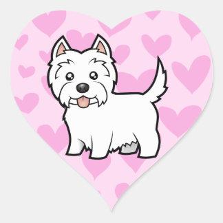 West Highland White Terrier Love Heart Sticker