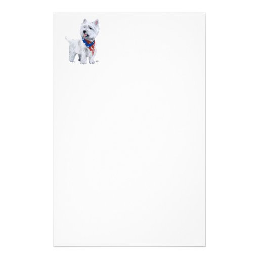 West Highland White Terrier Patriotic Custom Stationery