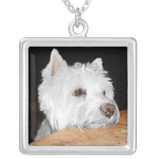 West Highland White Terrier Portrait Necklace