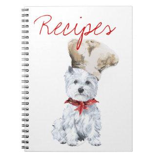 West Highland White Terrier Recipe Book Spiral Note Books