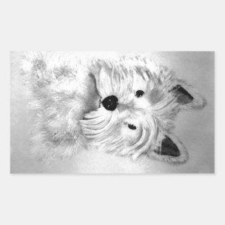 West Highland White Terrier Rectangular Sticker