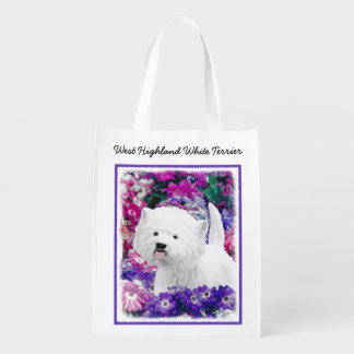 West Highland White Terrier Reusable Grocery Bag