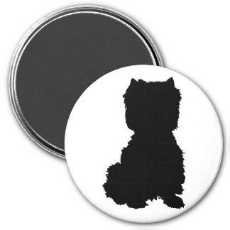 West Highland White Terrier Silhouette 7.5 Cm Round Magnet