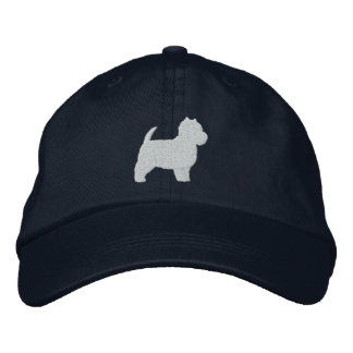 West Highland White Terrier Silhouette Embroidered Hat