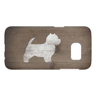 West Highland White Terrier Silhouette Rustic