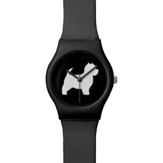 West Highland White Terrier Silhouette Watches