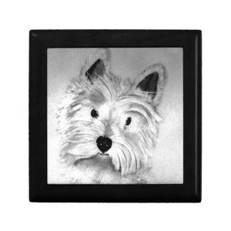 West Highland White Terrier Small Square Gift Box