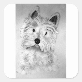 West Highland White Terrier Square Sticker