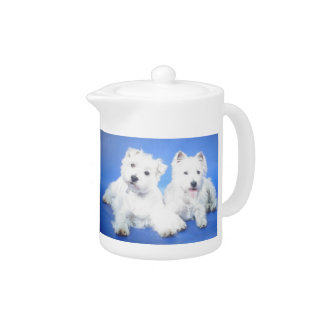 West Highland White Terrier Teapot