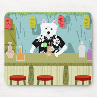 West Highland White Terrier Tiki Bar Mouse Pads