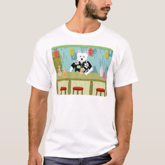 West Highland White Terrier Tiki Bar T-Shirt