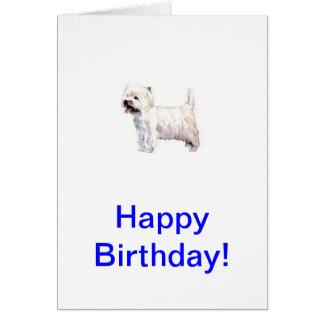 West Highland White Terrier Westie Card