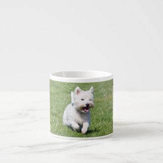 West Highland White Terrier, westie dog cute photo Espresso Cup