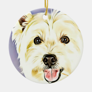 West Highland White Terrier,Westie,Dog,Puppy Ceramic Ornament