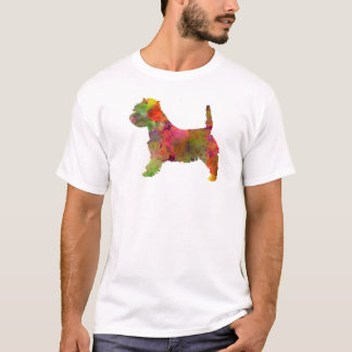 west highland white to terrier in watercolor 2 T-Shirt