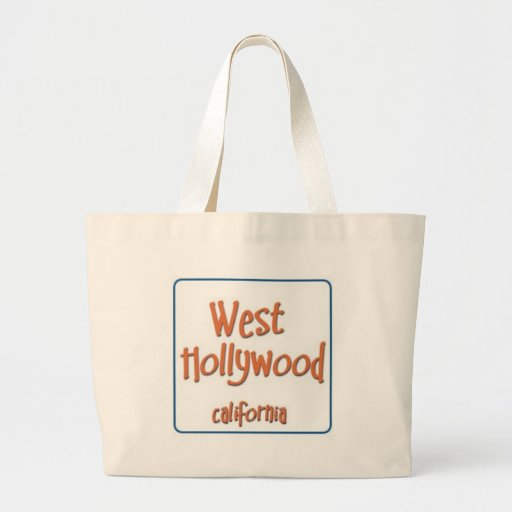 West Hollywood California BlueBox Canvas Bag