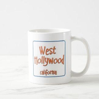 West Hollywood California BlueBox Basic White Mug