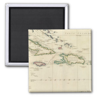 West India Islands 2 Square Magnet