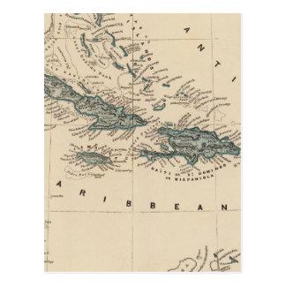 West India islands Postcard