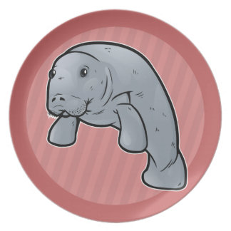 West Indian Manatee Dinner Plates