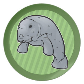 West Indian Manatee Plate