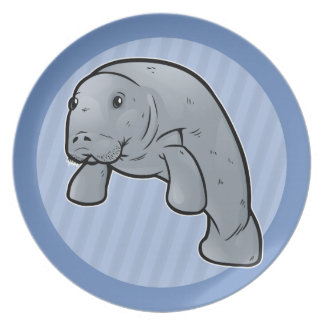 West Indian Manatee Plates