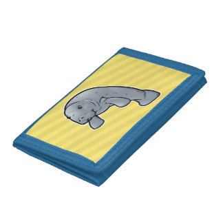 West Indian Manatee Tri-fold Wallet
