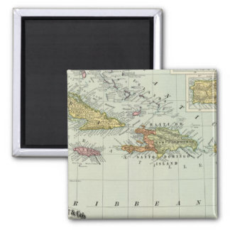 West Indies 11 Square Magnet