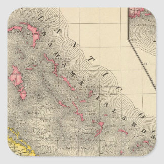 West Indies 12 Square Stickers