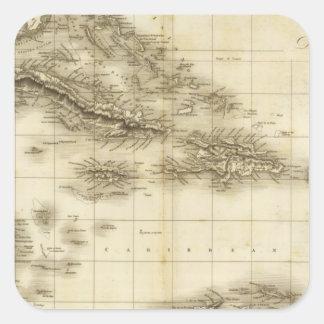 West Indies 13 Square Sticker