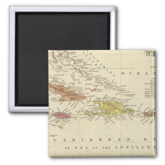 West Indies 14 Square Magnet