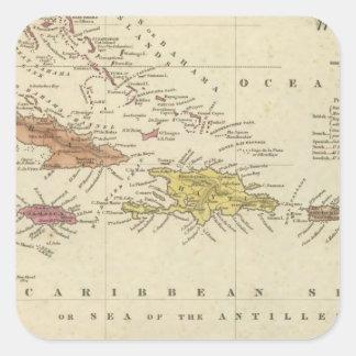 West Indies 14 Square Sticker