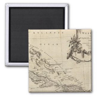 West Indies 15 Square Magnet