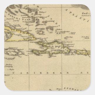 West Indies 15 Square Sticker