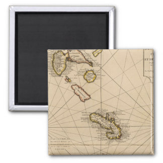 West Indies 18 Square Magnet
